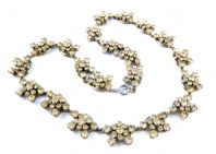 Vintage Art Deco Rhinestone Panel Necklace.